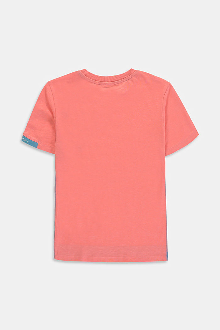 Layered-look T-shirt made of 100% cotton, DARK OLD PINK, detail image number 1