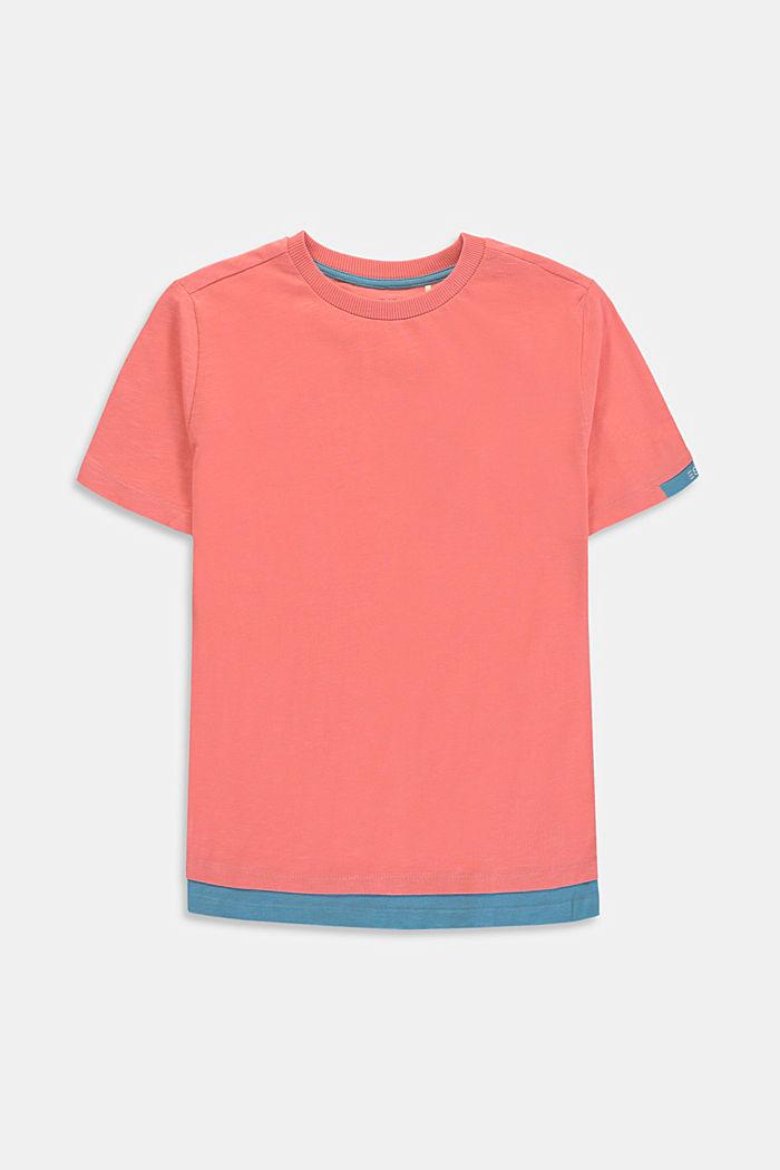 T-shirt met laagjeslook van 100% katoen