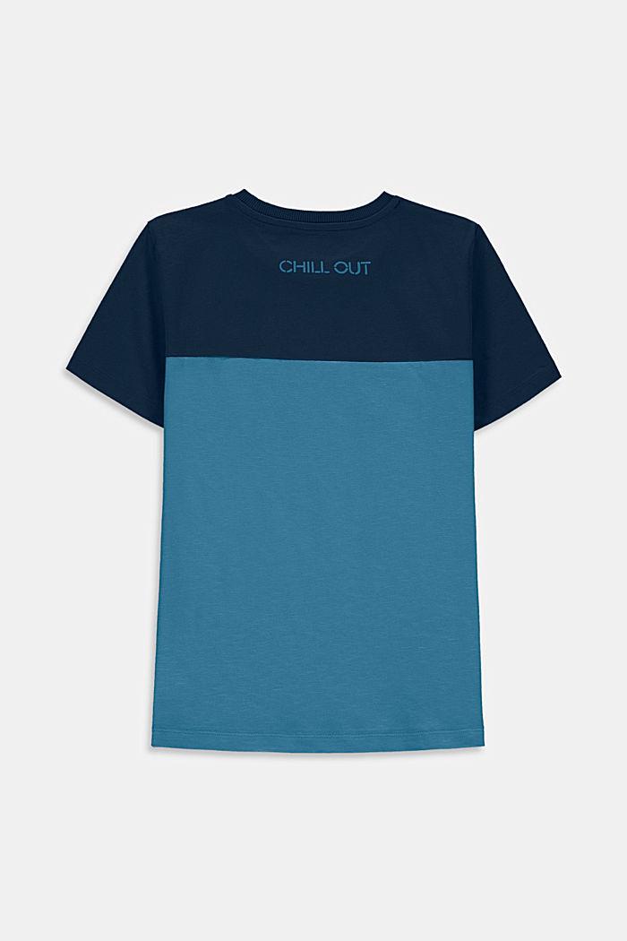 T-Shirt mit Color Block, 100% Baumwolle