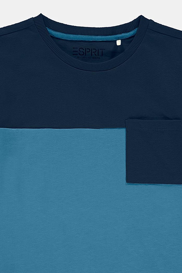 T-shirt w szerokie pasy, 100% bawełny, GREY BLUE, detail image number 2