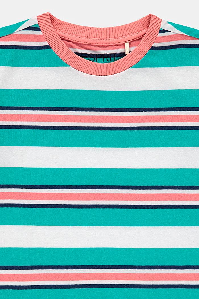 Striped T-shirt, 100% cotton, DARK TURQUOISE, detail image number 2