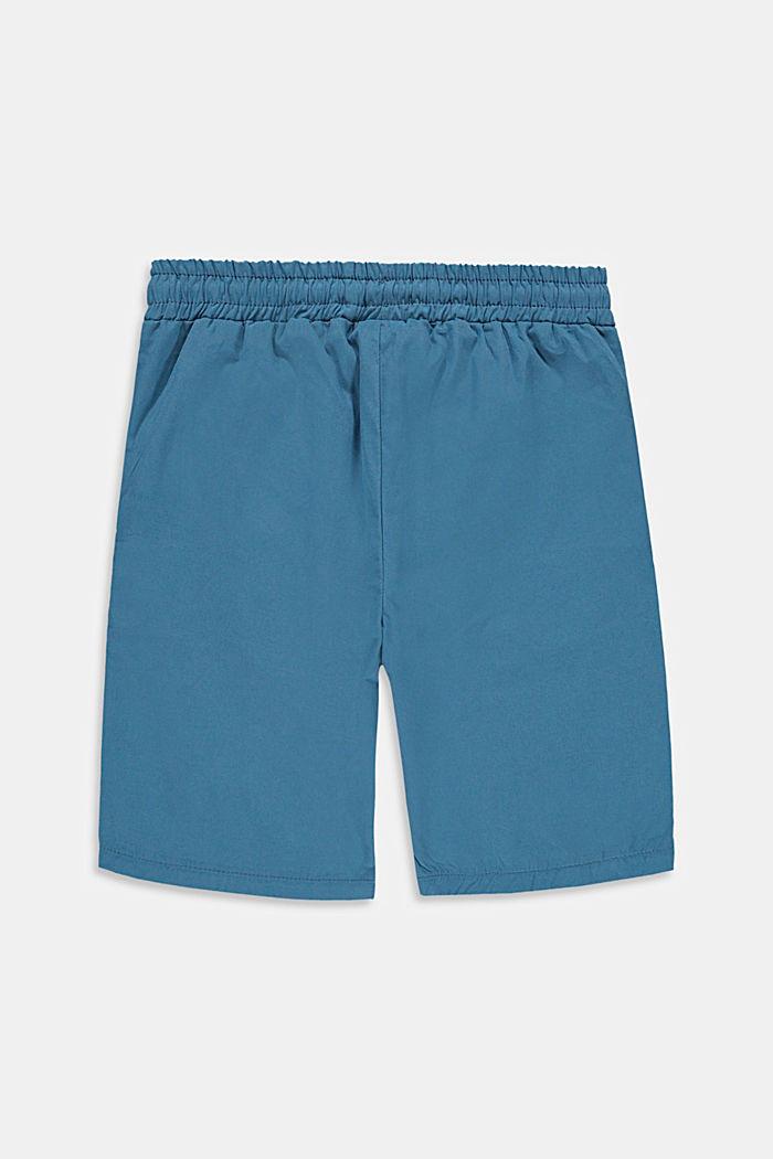 Short à détails rayés, 100% coton, GREY BLUE, detail image number 1