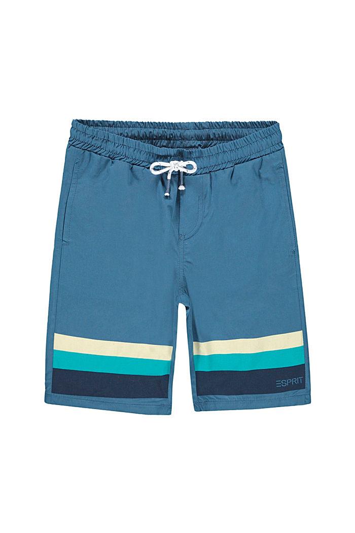 Short à détails rayés, 100% coton, GREY BLUE, detail image number 3