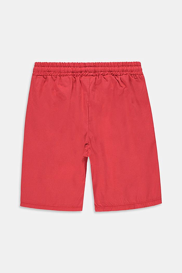 Pantalón corto con detalles de rayas, 100% algodón
