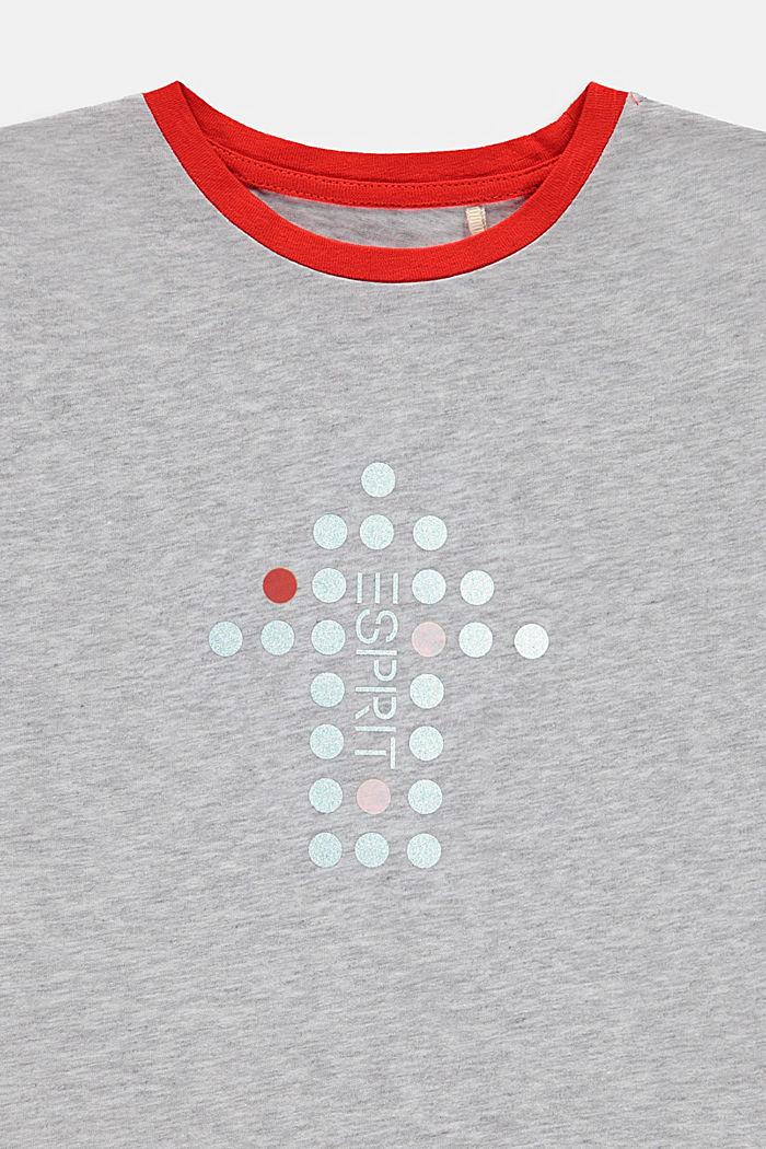 T-paita, jossa heijastava painatus, DUSTY NUDE, detail image number 2