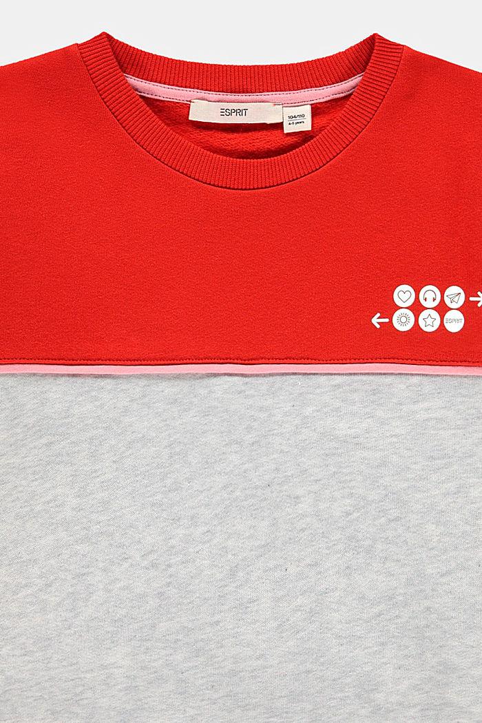 Sweat-shirt à imprimé réfléchissant, RED, detail image number 2