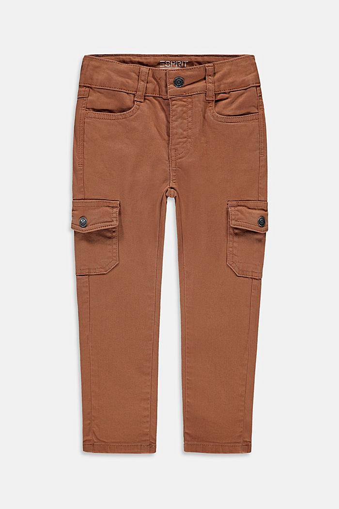 Smalle bukser i cargo-stil med justerbar livvidde