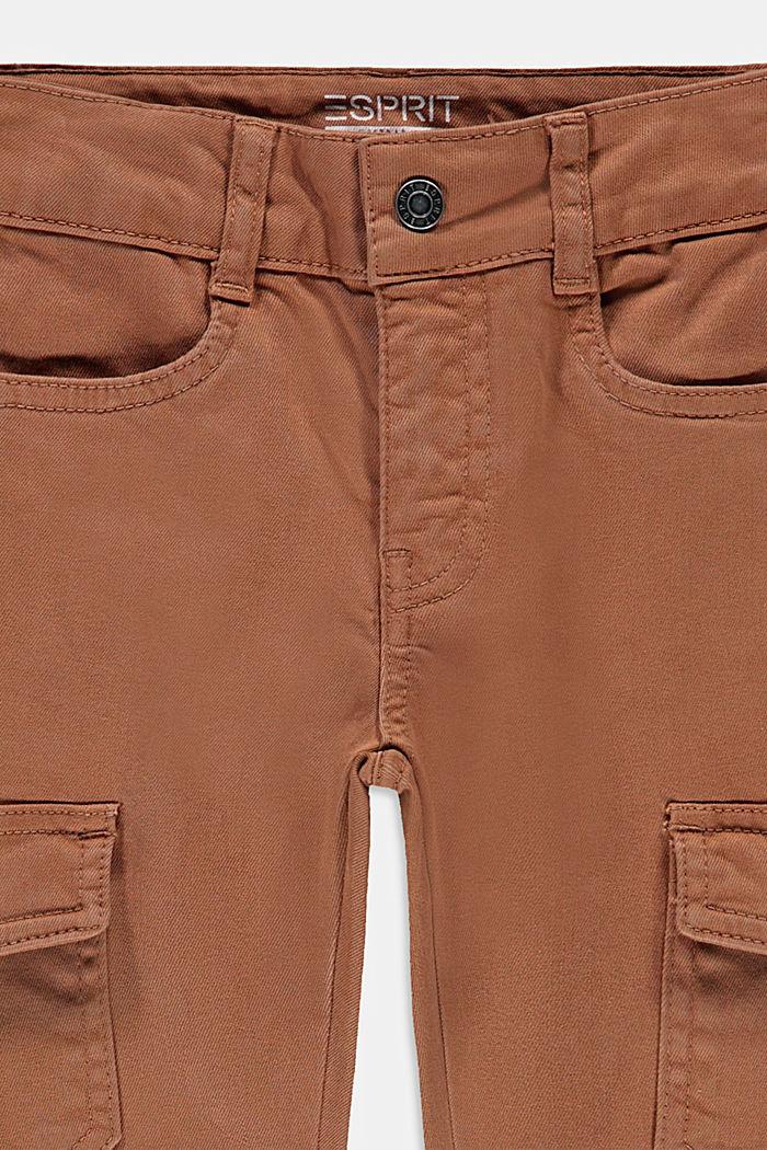 Schmale Hose im Cargo-Stil mit Verstellbund, CARAMEL, detail image number 2