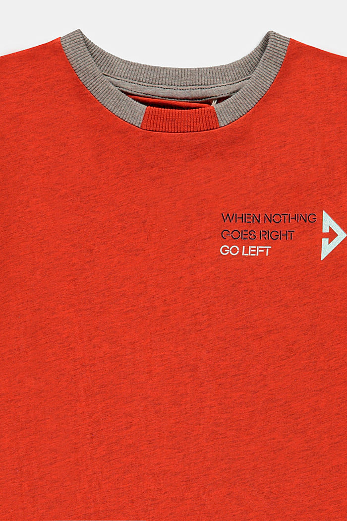 Camiseta con estampado geométrico reflectante, GOLDEN ORANGE, detail image number 2