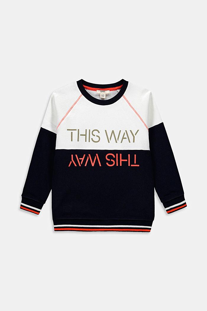 Sweatshirt met print, 100% katoen