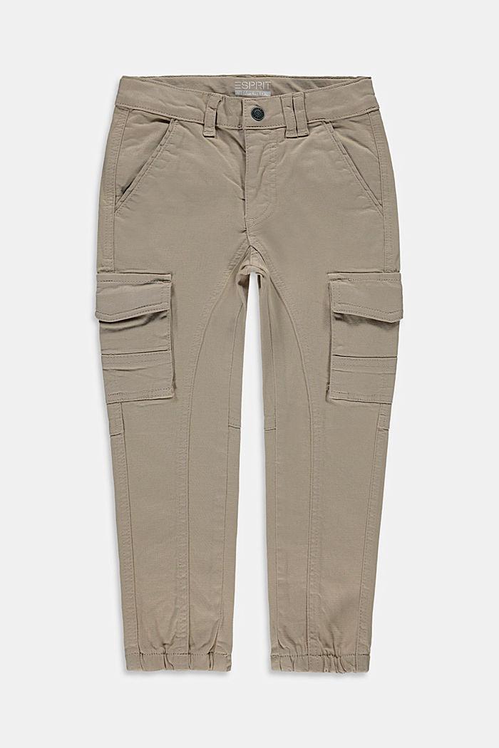 Pantaloni cargo con vita regolabile, TOFFEE, detail image number 0