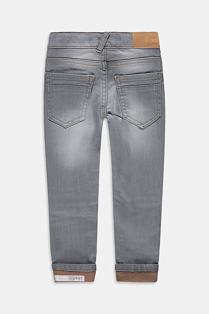 Jeans met variabele omslagen en verstelbare band