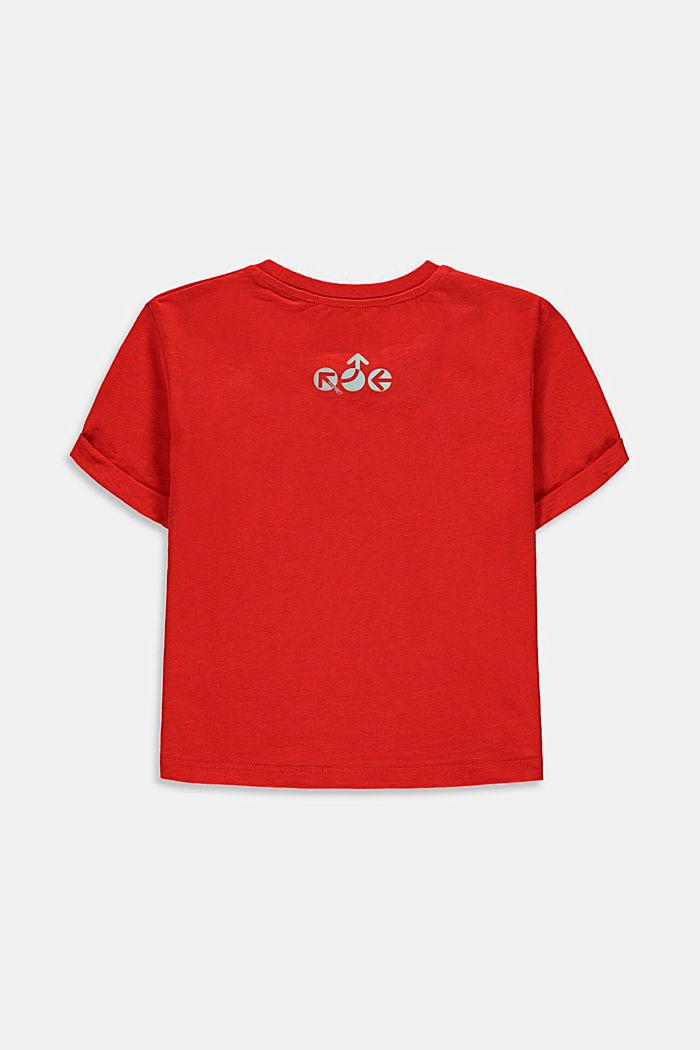 Laatikkomainen T-paita, jossa heijastavia osia