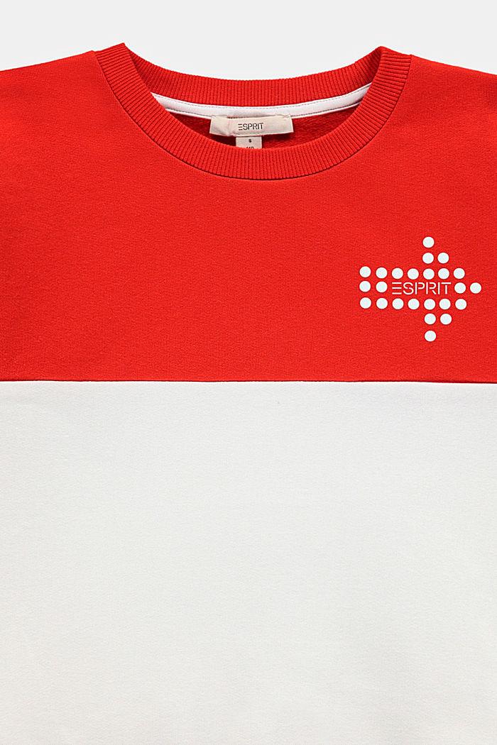 Sudadera con estampado reflectante, RED, detail image number 2