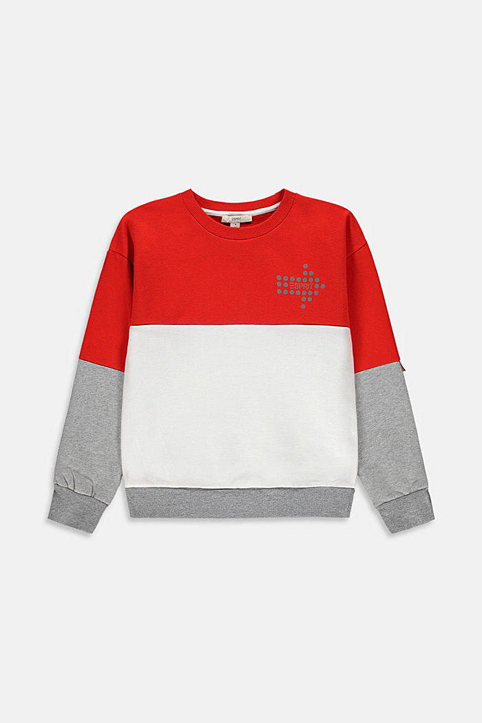 Sweatshirt med reflekterande tryck