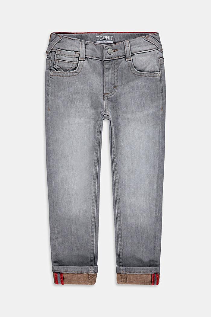 Jeans met een reflecterende logoprint