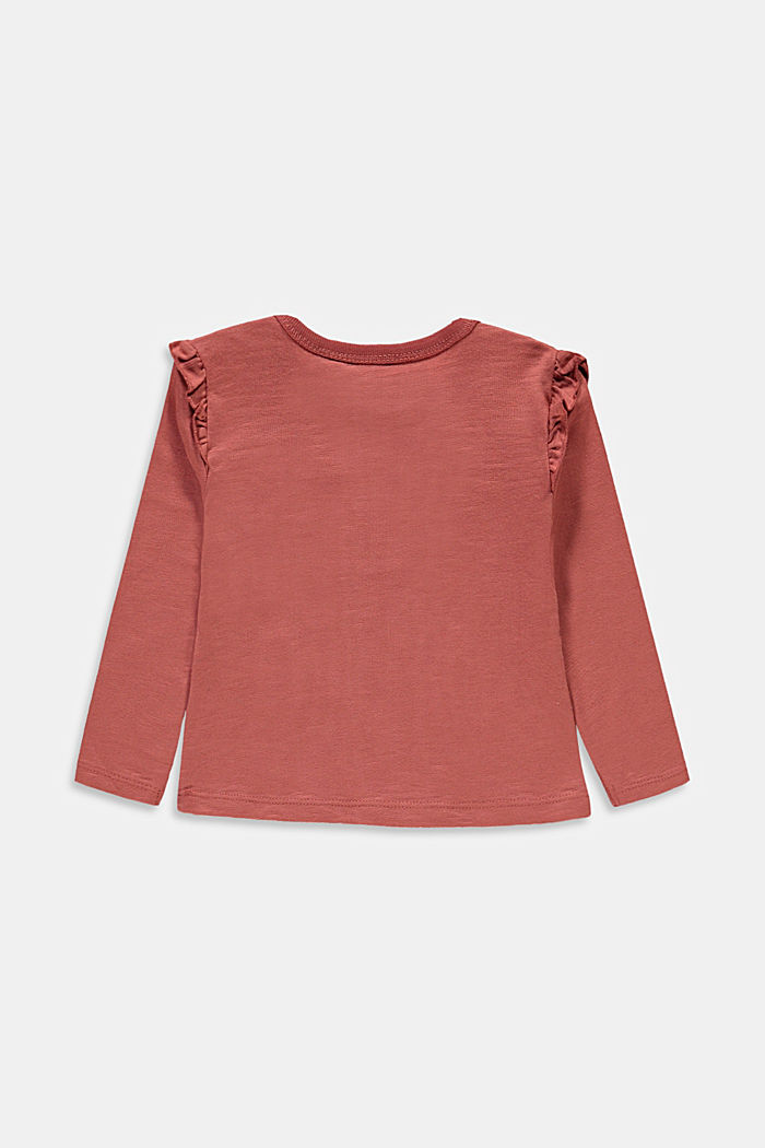 Appliquéd long sleeve top, organic cotton