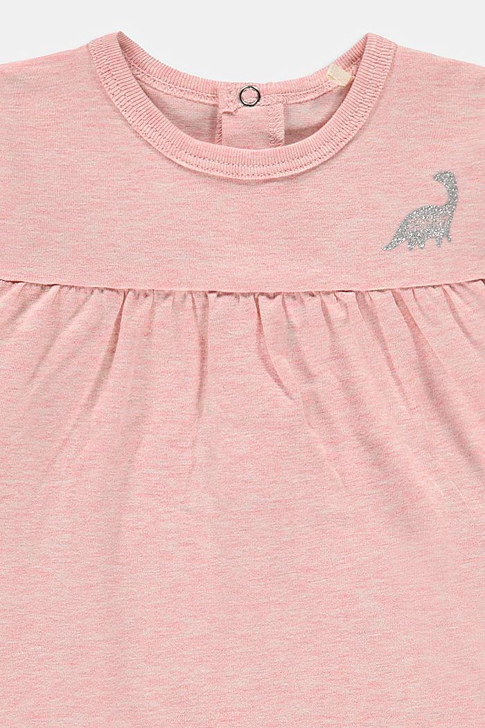 Longsleeve met print van organic cotton, PASTEL PINK, detail image number 2
