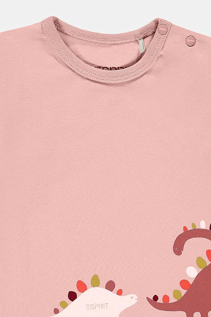 Longsleeve met print, biologisch katoen, PASTEL PINK, detail image number 2