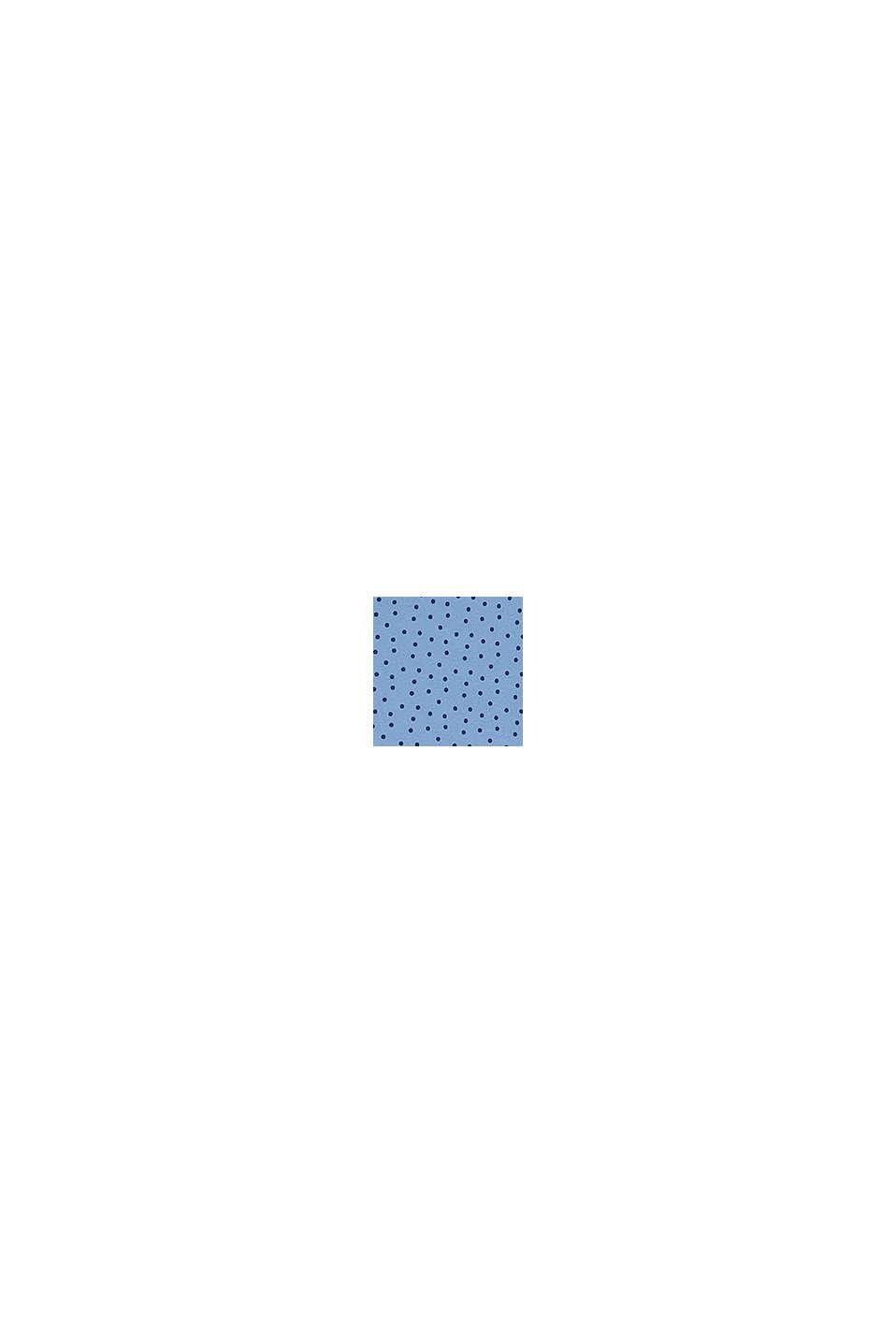 Camiseta de manga larga con lunares, algodón ecológico, BRIGHT BLUE, swatch