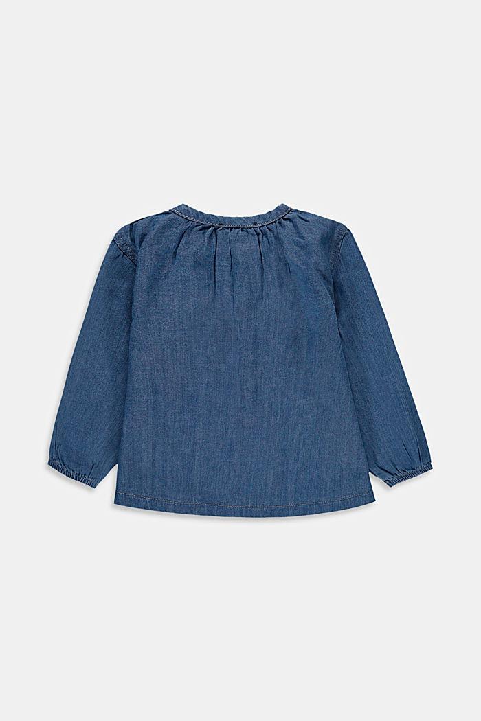 Denim blouse made of 100% cotton, BLUE MEDIUM WASHED, detail image number 2
