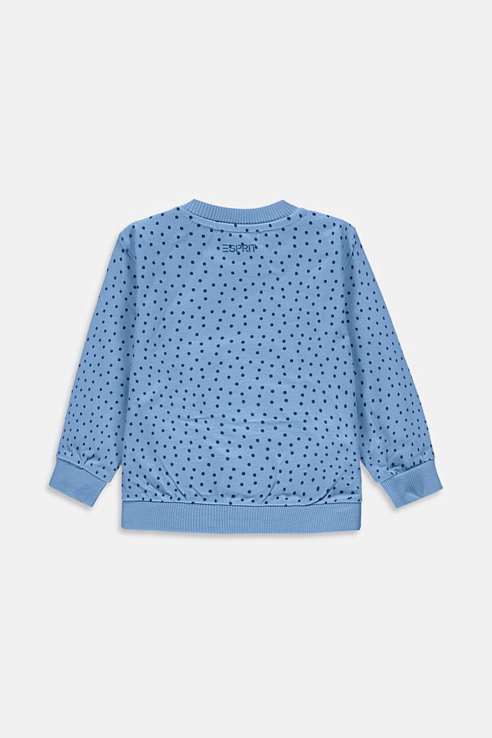 Sweatshirt mit Print, Bio-Baumwolle, BRIGHT BLUE, detail image number 1