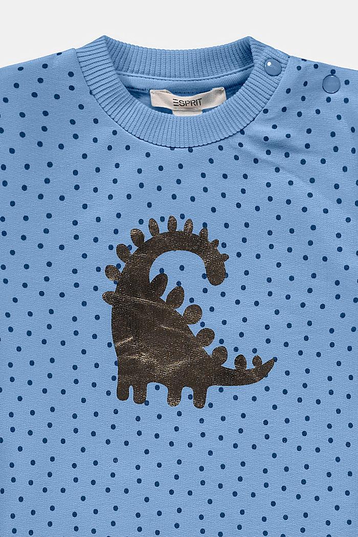 Sweatshirt mit Print, Bio-Baumwolle, BRIGHT BLUE, detail image number 2