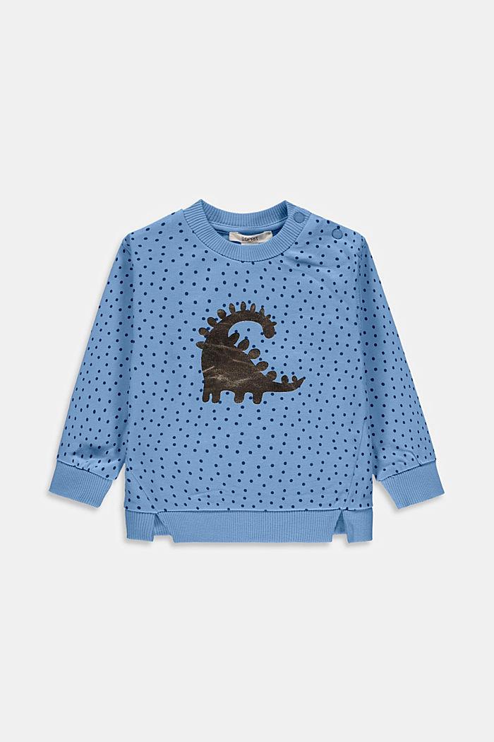Sweatshirt mit Print, Bio-Baumwolle, BRIGHT BLUE, detail image number 0