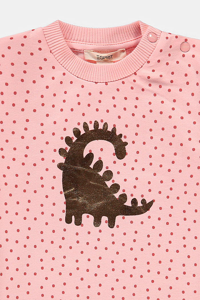 Sweat-shirt à imprimé, coton biologique, PASTEL PINK, detail image number 2