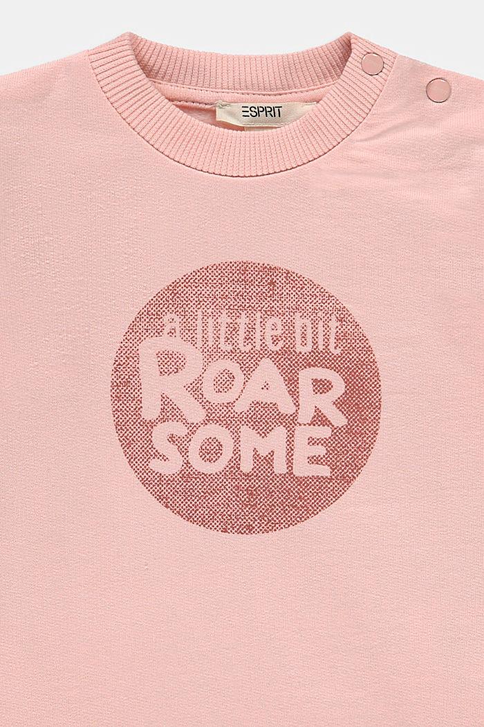 Sweatshirt with a print, organic cotton, PASTEL PINK, detail image number 2