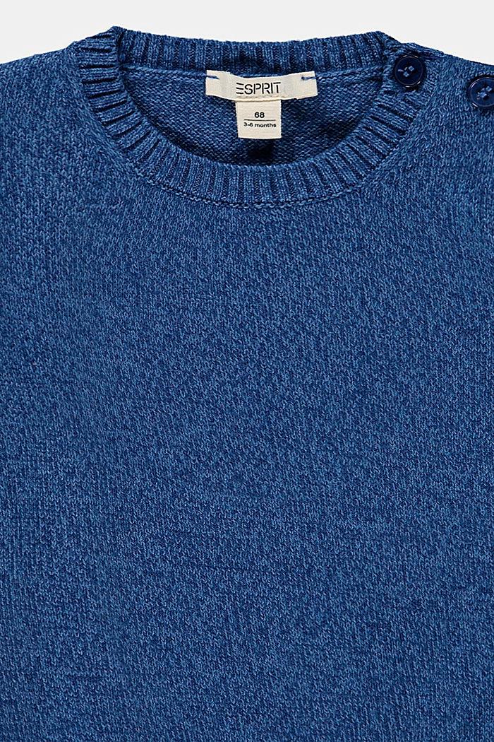 Pull-over d´aspect chiné coloré en coton biologique, INK, detail image number 2