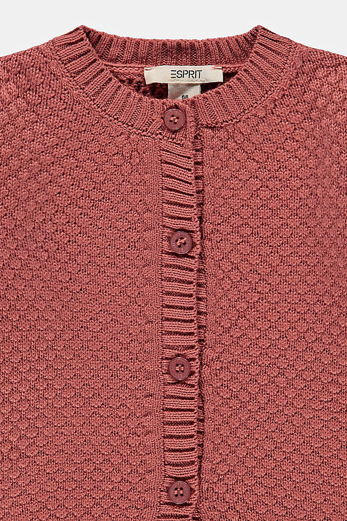 Struktur-Cardigan aus 100% Bio-Baumwolle, DARK MAUVE, detail image number 2