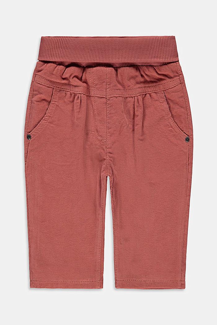 Pantalon en velours côtelé doublé, coton biologique