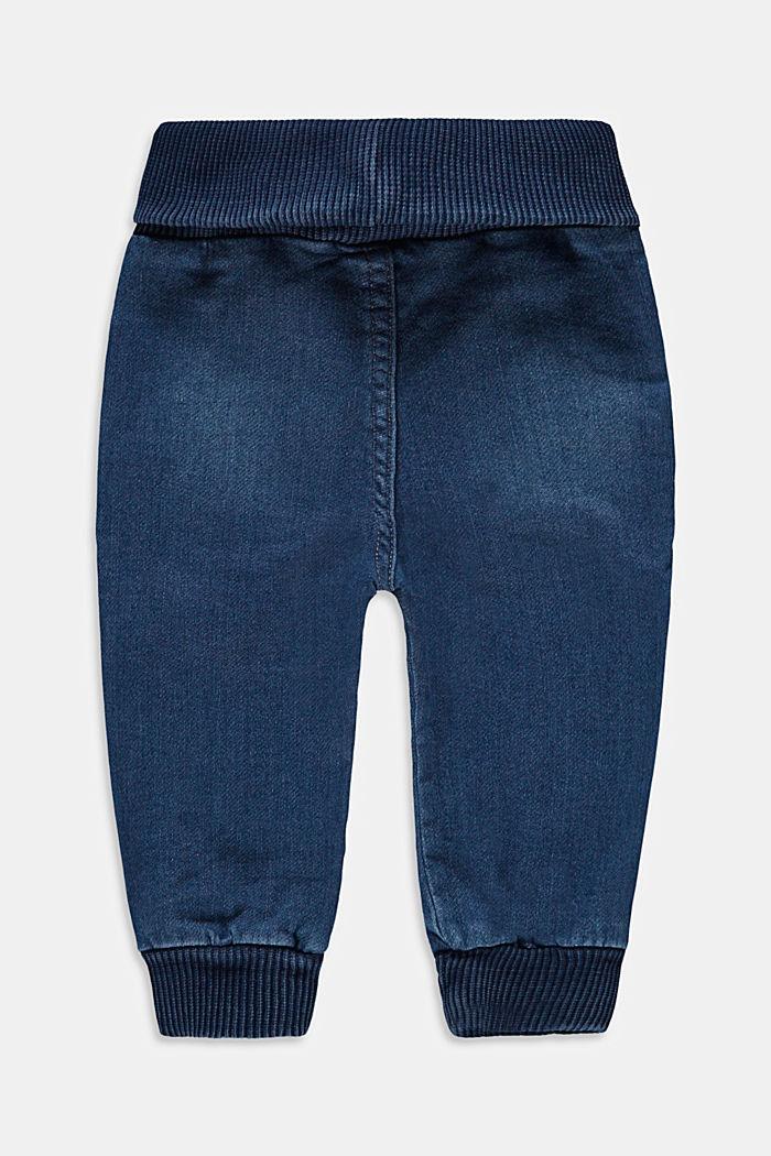Jean à ceinture côtelée en coton stretch