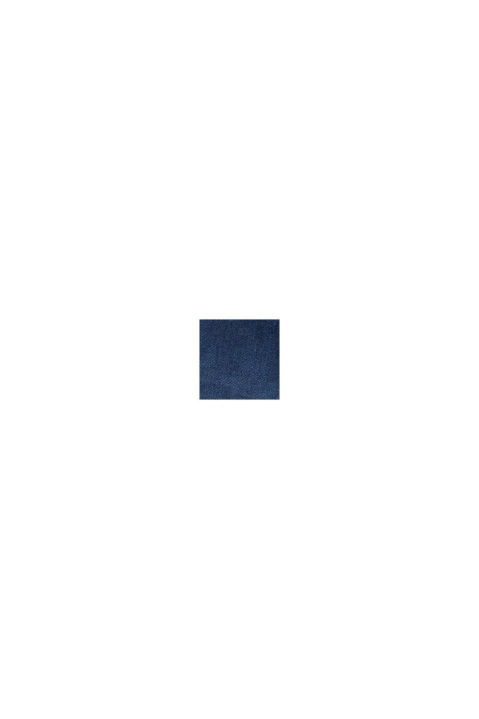Jean à ceinture côtelée en coton stretch, BLUE MEDIUM WASHED, swatch