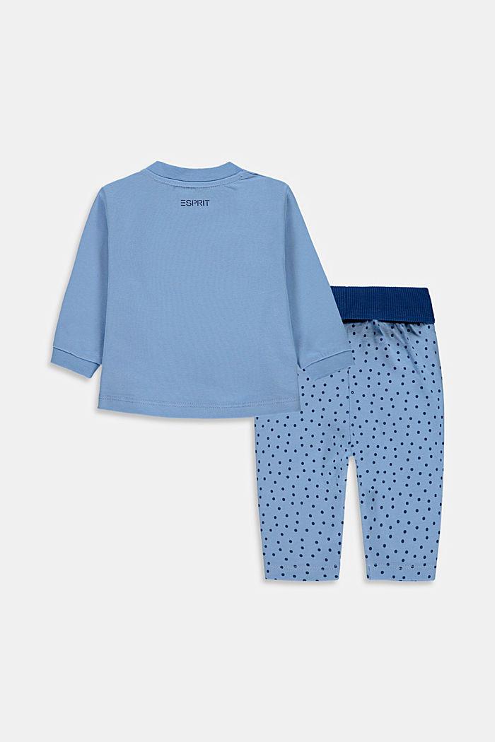 Conjunto: parte superior y pantalón de algodón ecológico, BRIGHT BLUE, detail image number 1