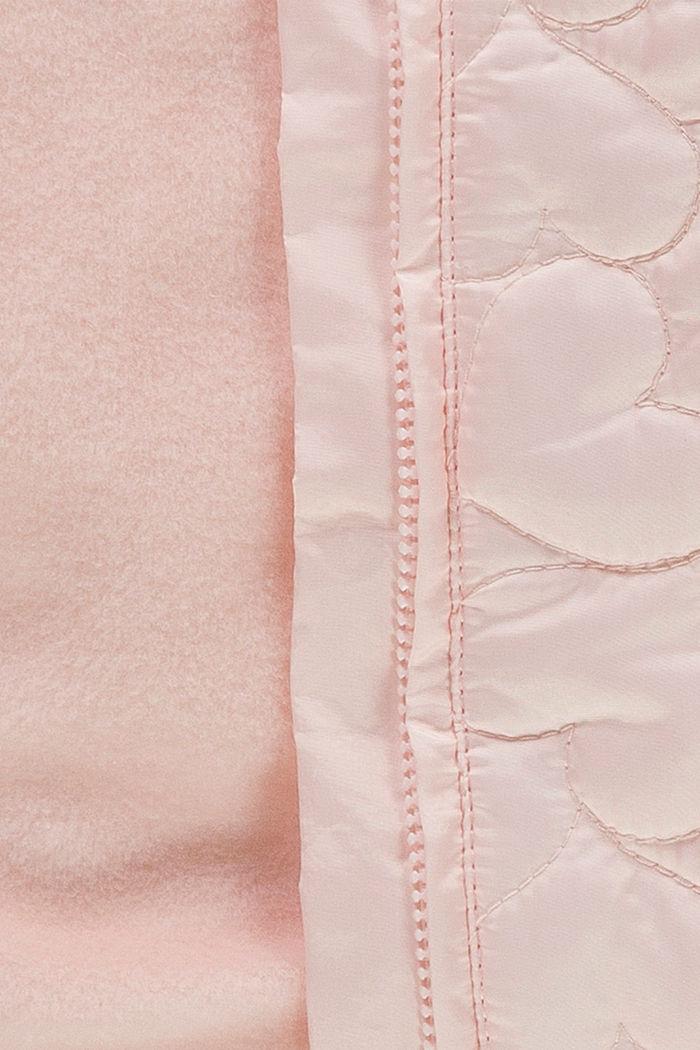 Pikowana kurtka z ciepłą podszewką i kapturem, PASTEL PINK, detail image number 2