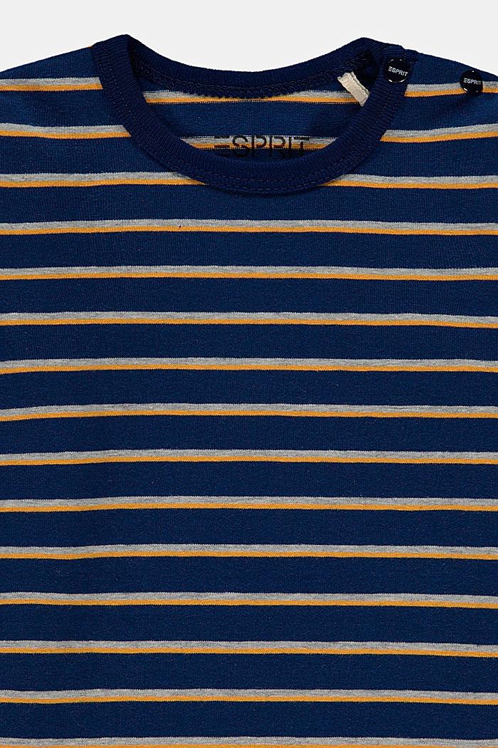 Camiseta de manga larga con diseño a rayas en algodón ecológico, BLUE, detail image number 2