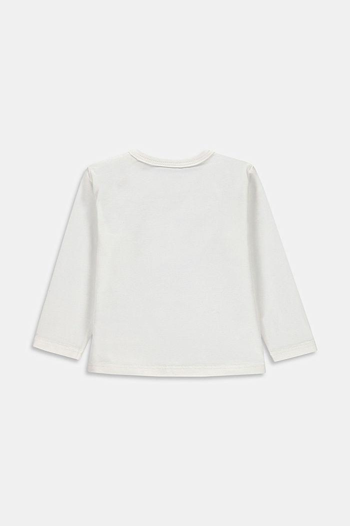 T-shirt manches longues imprimé, coton bio, SKIN BEIGE, detail image number 1