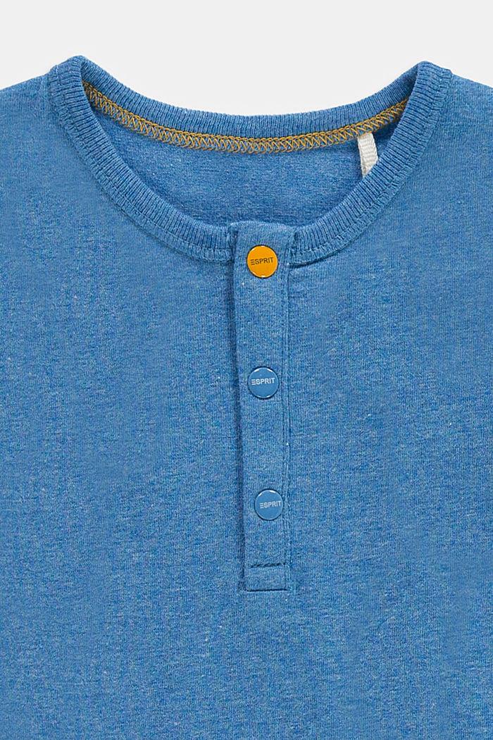 Koszulka z długim rękawem z guzikami, bawełna ekologiczna, LIGHT BLUE, detail image number 2