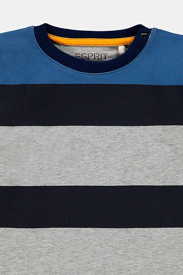 Palkkiraidallinen pitkähihainen, luomupuuvillaa, MEDIUM GREY, detail image number 2