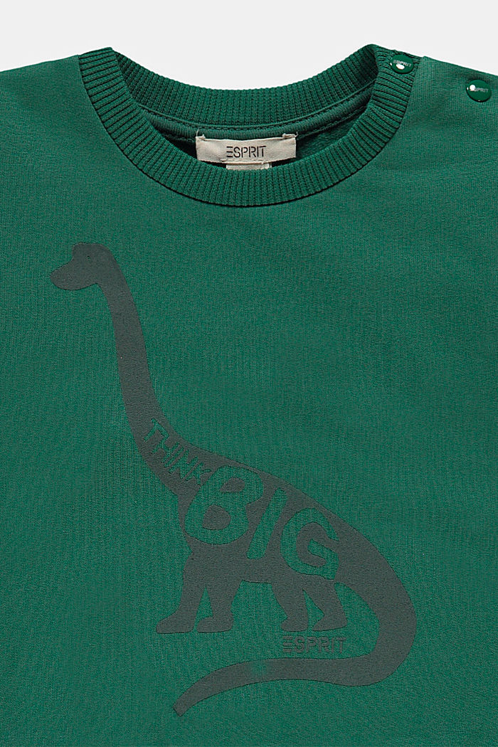 Sweatshirt mit Print, Bio-Baumwolle, BOTTLE GREEN, detail image number 2