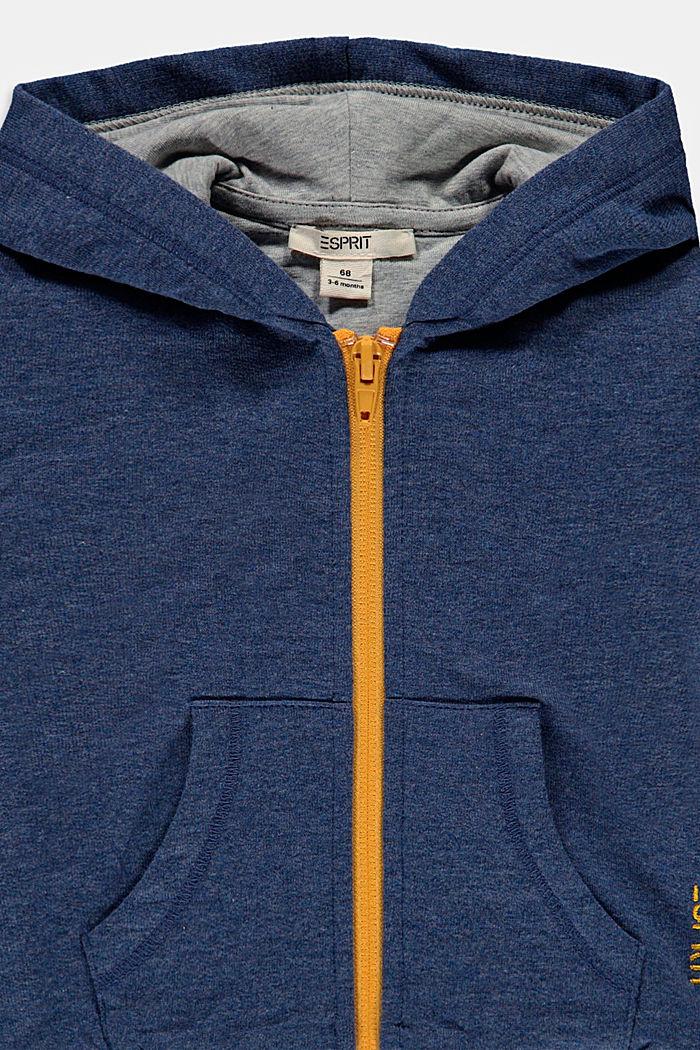 Sudadera de cremallera con capucha de algodón ecológico, BLUE, detail image number 2