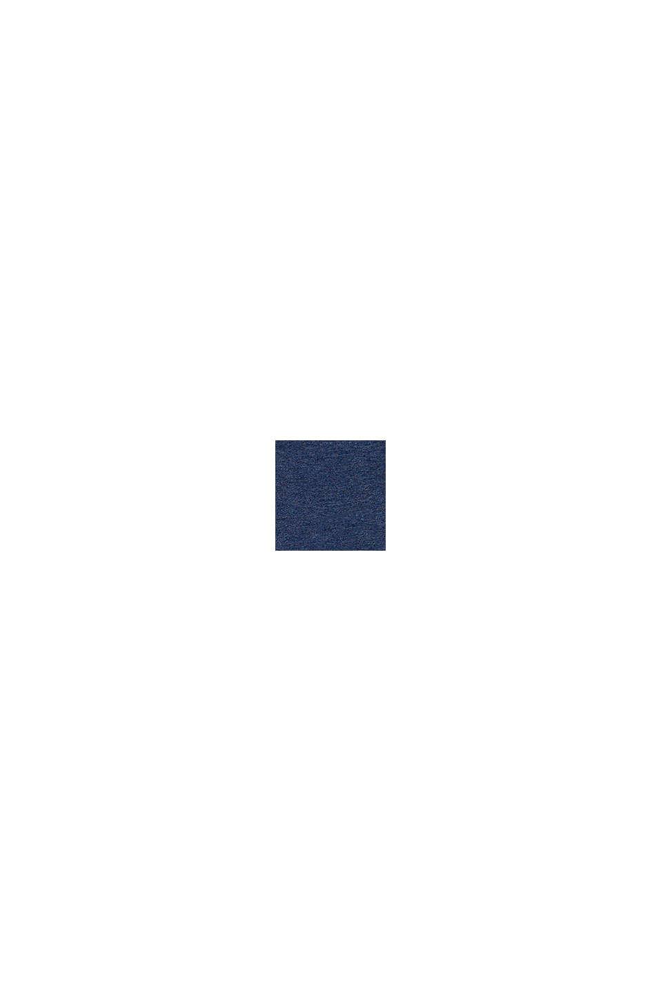 Huvtröja med dragkedja i ekobomull, BLUE, swatch