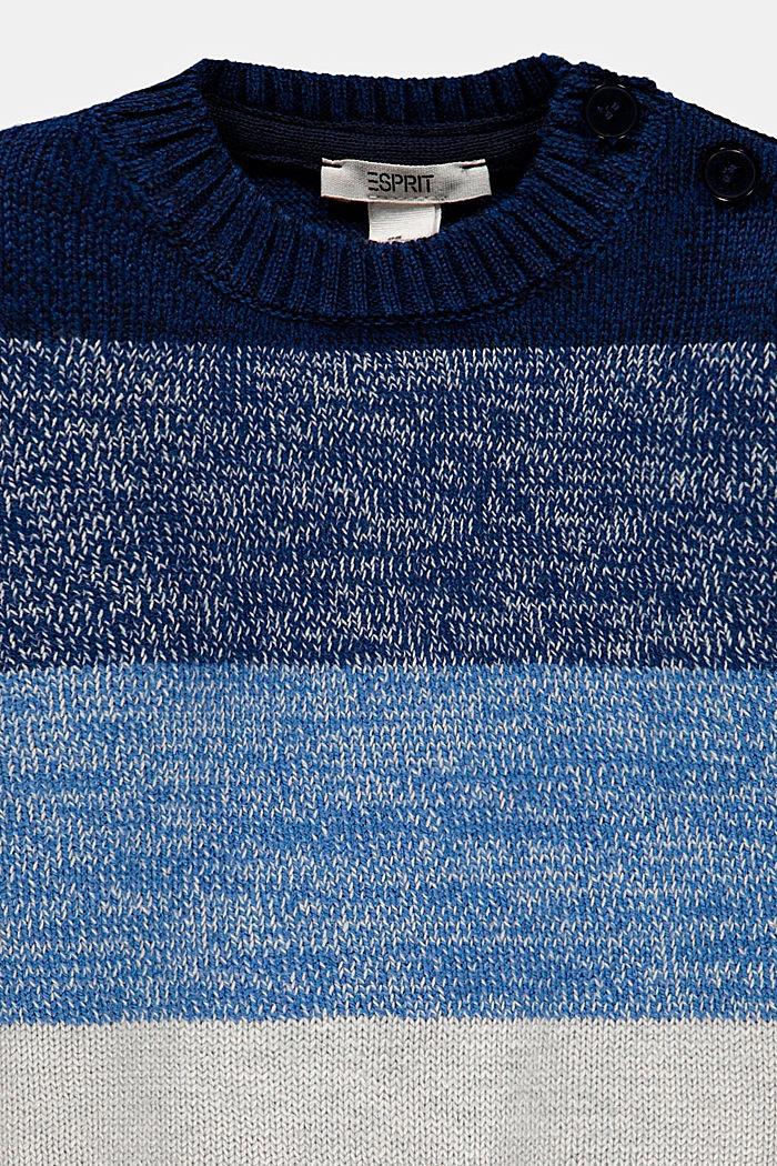Pullover mit Blockstreifen, Baumwoll-Mix, BLUE, detail image number 2
