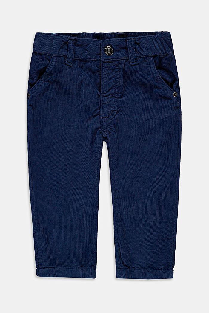 Pantalon en velours côtelé à taille ajustable, en coton