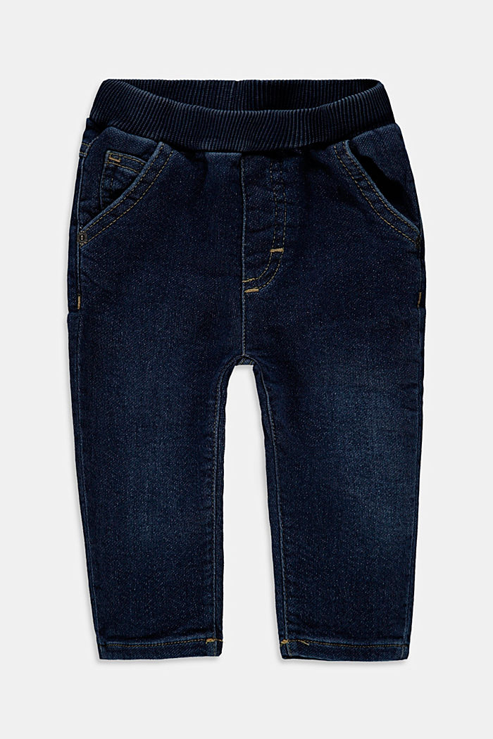 Jean stretch à ceinture élastique en coton