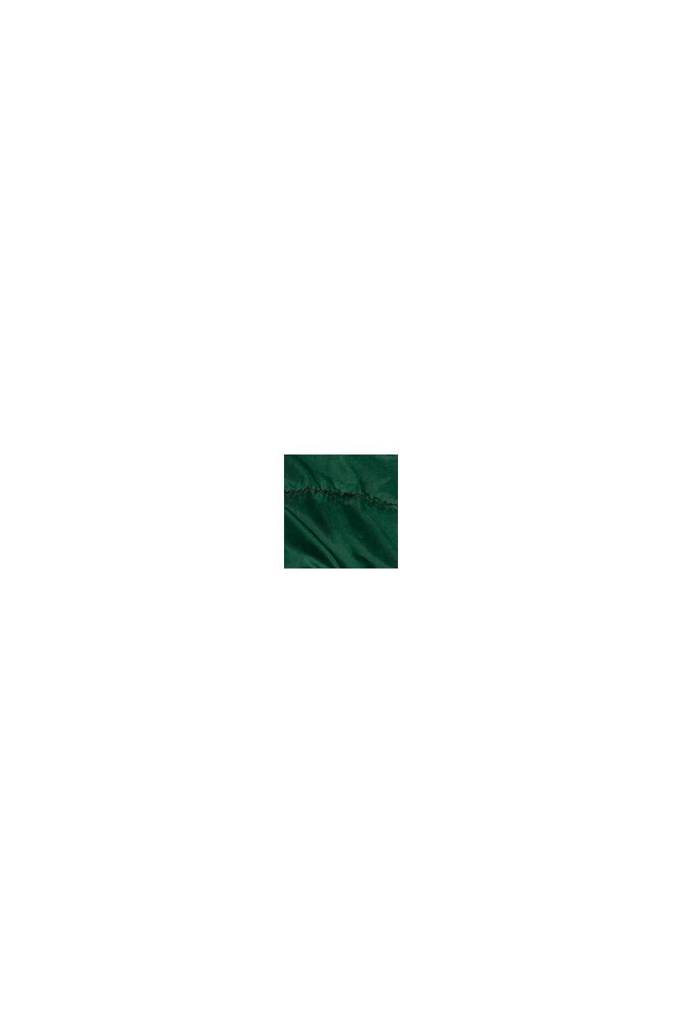 Giacca trapuntata con fodera in pile e cappuccio, BOTTLE GREEN, swatch