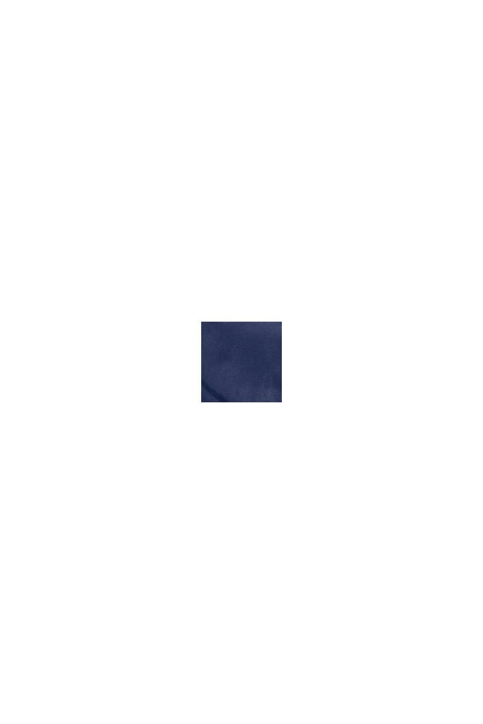 Giacca trapuntata con fodera in pile e cappuccio, BLUE, swatch