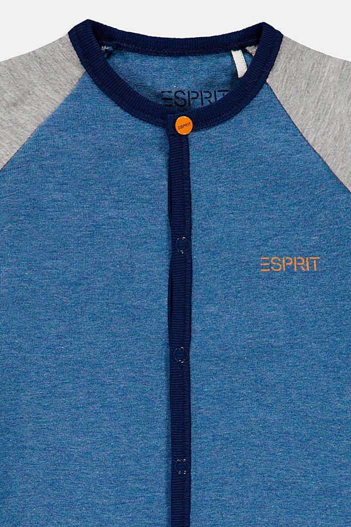 Tuta con blocchi di colore in cotone biologico, LIGHT BLUE, detail image number 2